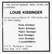 louis kissinger f rthwiki. Black Bedroom Furniture Sets. Home Design Ideas